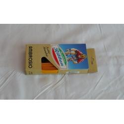 Traka za volan Ambrosio, žuta, sa rupicama, plastificirana