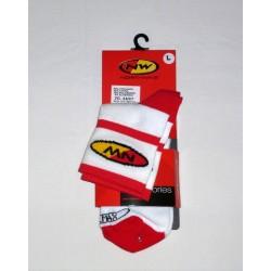 Čarape Northwave belo/crvene 44-47